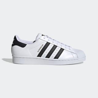 adidas Originals adidas三叶草 金标贝壳头 男女鞋SUPERSTAR小白鞋情侣鞋中性款经典运动休闲板鞋 白色 36.5