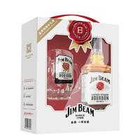 JIM BEAM 金宾 波本威士忌 嗨棒杯礼盒(1瓶金宾白占边 750ml+1个金宾嗨棒杯)