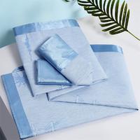 LUOLAI 罗莱家纺 可折叠提花冰丝席二件套 1.2m