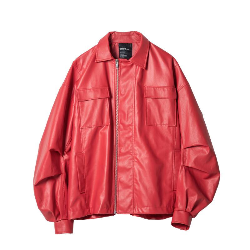 ROARINGWILD 男女款PU皮夹克 011920136