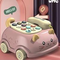噢咕潮流 猫咪拉线电话机