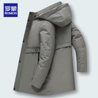 罗蒙冬季外套男棉衣男士棉袄中长款加绒加厚爸爸棉服保暖中年男装