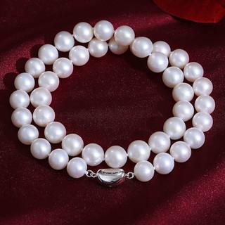 黛米 若云10-11mm强光泽正圆淡水珍珠项链送妈妈礼物S925银扣