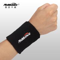 Mdikawe 曼迪卡威 运动护腕健身护手腕棉质擦汗毛巾 黑色单只装 均码8*10CM