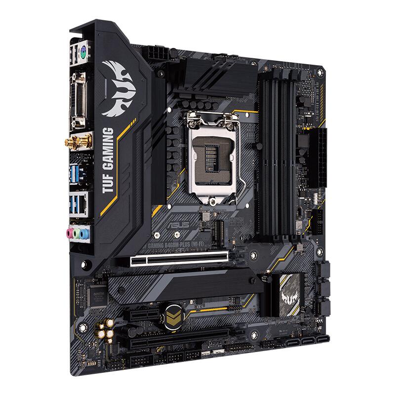 ASUS 华硕 TUF GAMING B460M-PLUS (WIFI) 重炮手 MATX主板(Intel LGA1200、B460)
