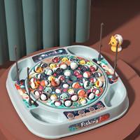 电动旋转钓鱼盘益智玩具