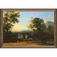 Artron 雅昌 劳伦《黎明》100×70cm 欧式风景油画  装饰画 油画布