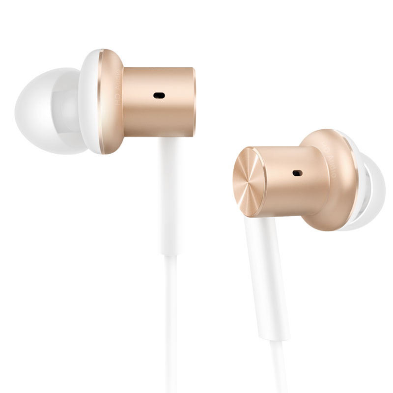 MI 小米 入耳式圈铁有线耳机 金色 直型