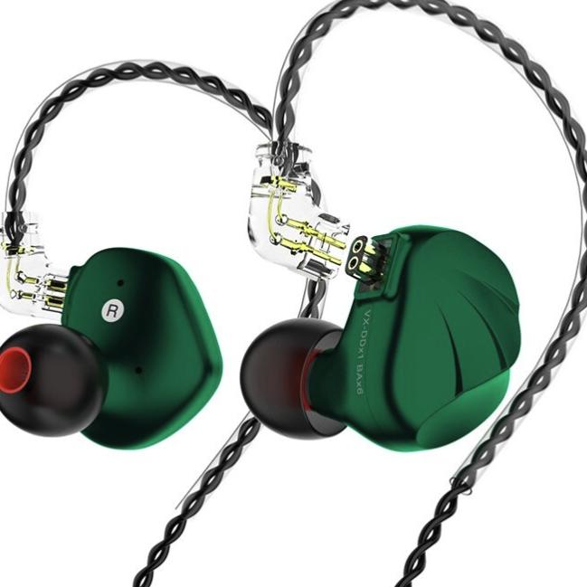 TRN TRN VX 入耳式耳塞式封闭动圈有线耳机 绿色 3.5mm 超值套餐