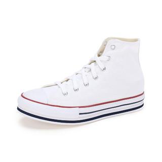 CONVERSE 匡威 男女中大童款 舒适百搭高帮休闲运动鞋帆布鞋小白鞋