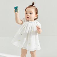 balabala 巴拉巴拉 婴儿公主裙儿童连衣裙夏女童裙子宝宝纱裙新款潮