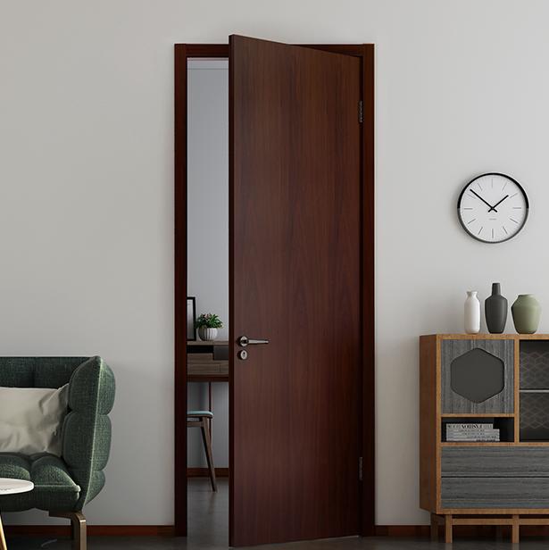 TATA木门 时尚系列 PB001-J 家用隔音房门 胡桃色