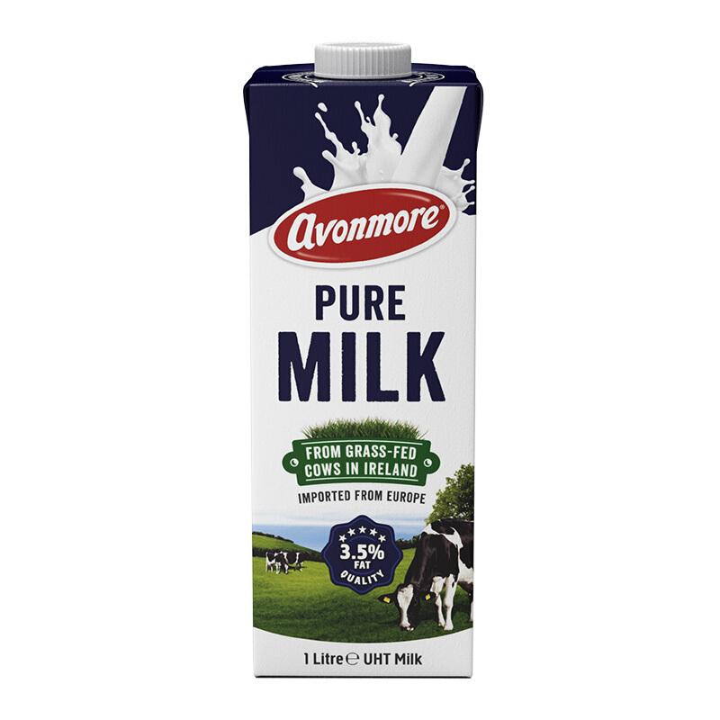 avonmore 艾恩摩尔 全脂牛奶 进口草饲 1L*6瓶