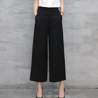 TINSINO 纤丝鸟 2021春夏新款九分垂坠感雪纺阔腿裤女时尚气质宽松高腰显瘦直筒裤