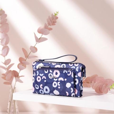 新款女式手拿包帆布包印花包手包零钱包手抓包小包包手机包