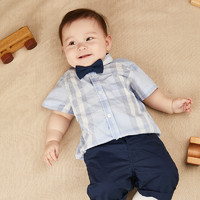YANXUAN 网易严选 婴童格纹短袖衬衫 3个月-3岁