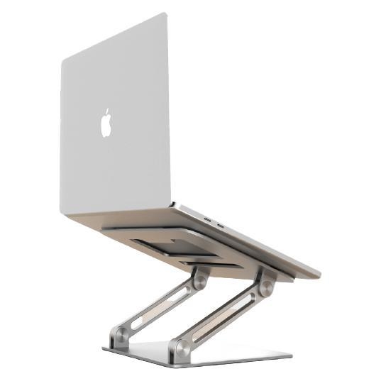 JRC 笔记本电脑支架 可无极升降散热器 铝合金折叠便携立式支架 联想拯救者小新苹果Mac华为戴尔增高托架