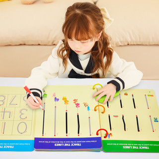 wisehouse 聪明屋 儿童控笔训练幼儿园可擦入门早教专注力运笔连线益智玩具精细动作