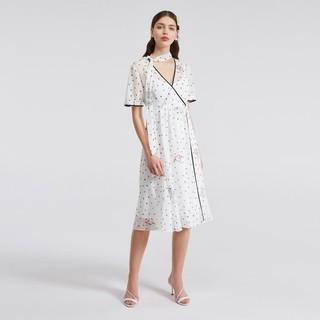 ochirly 欧时力 夏装领带连衣裙收腰显瘦气质套装女