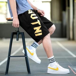 LONSDALE 男式休闲短裤个性字母印花运动裤潮流时尚青少年宽松舒适五分裤