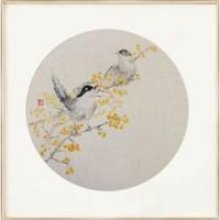 ARTMORN 墨斗鱼艺术 王伟《喜来登》42×42cm 2021年 中式风格装饰画手工装