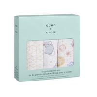 aden+anais 婴儿抱被 3只装 心有所鼠