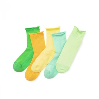 balabala 巴拉巴拉 儿童袜子夏季中筒袜宝宝男女童运动时尚彩色中大童五双装