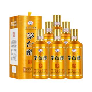 京东PLUS会员 : MOUTAI 茅台 醇 53度柔和酱香型白酒 500ml*6瓶整箱