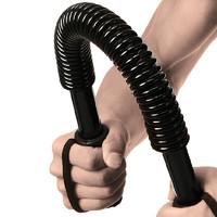 蒙拓嘉 男士臂力器握力器扩胸器握力棒家用锻炼健身器材臂力棒 黑色20KG级