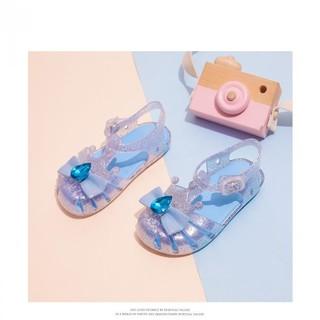 Snoffy 斯纳菲 宝宝凉鞋夏季新款舒适女童凉鞋公主果冻鞋软底儿童鞋