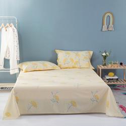MERCURY 水星家纺 全棉床单 纯棉被单学生宿舍床单单件水星全棉印花床单(琪花瑶果)160cm×230cm