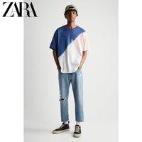 ZARA 00962421046 男装全棉直筒扎染印花短袖T恤