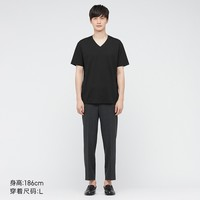 UNIQLO 优衣库 435797 男士AIRism棉混纺V领T恤
