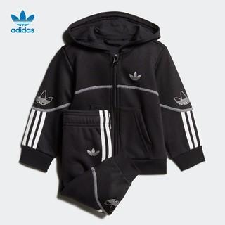 阿迪达斯官网adidas三叶草 OUTLINE FZ HOOD婴童装运动套装FM4443