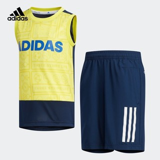 adidas 阿迪达斯 DZ8634 小童训练短袖针织套装