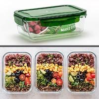 上班族玻璃饭盒微波炉专用保鲜盒 550ml