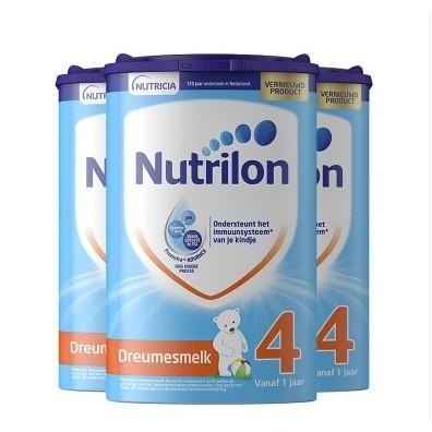 黑卡会员:Nutrilon 诺优能 荷兰版 婴儿配方奶粉 4段 800克/罐 3罐装