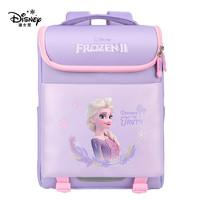 Disney 迪士尼 儿童书包卡通6-11岁冰雪奇缘 大容量双肩背包 紫色