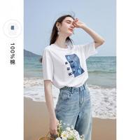 3COLOUR 三彩 D362I2008Z1066 女款物印花短袖T恤