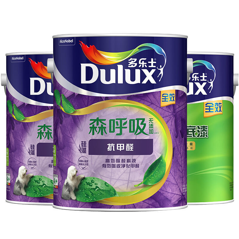 Dulux 多乐士 A8110 竹炭森呼吸无添加硅藻抗甲醛全效墙面漆 5L