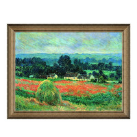 Artron 雅昌 莫奈《吉威尔尼的干草堆》81×63cm 装饰画 油画布