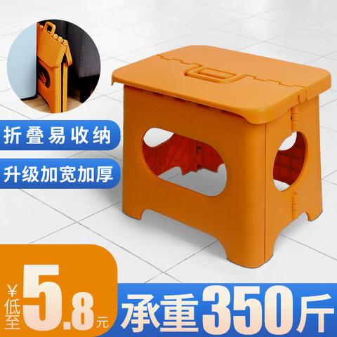 品源阁 折叠凳便携式马扎儿童小矮凳户外家用简易椅子浴室创意卡通小凳子