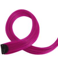 Sankins 尚青丝 哑光高温丝彩色单夹式接发片 长款 #18玫瑰紫