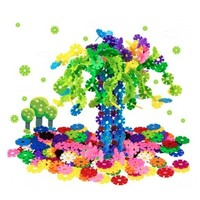 兰威 儿童塑料拼接积雪花片 600片