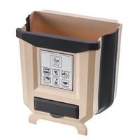 米囹 厨房垃圾桶挂式家用可折叠壁挂橱柜门厨余车载纸篓杂物分类收纳筐