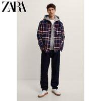 ZARA 04255563401 男装荧光格子夹克