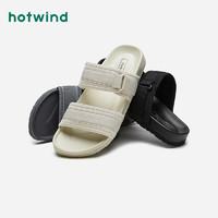 hotwind 热风 男鞋2021年夏季新款男士时尚拖鞋一字拖鞋男士时尚舒适凉鞋 09灰色 42