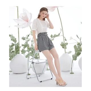 3COLOUR 三彩 D362L2009K4096 女士简约格子短裤