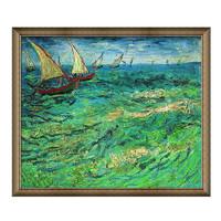 Artron 雅昌 梵高 《帆船海景》 67*58cm装饰画 油画布