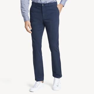 TOMMY HILFIGER 汤米·希尔费格 Tommy Hilfiger汤米 男士新款基础款slim fit商务修身休闲裤直筒长裤